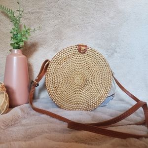 Handbags - *NWT* Woven Circle Crossbody